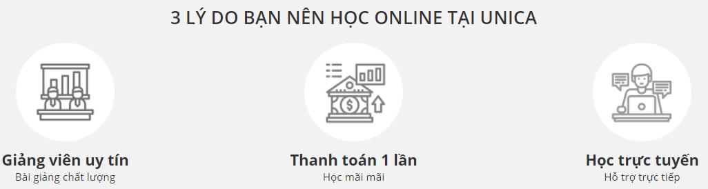 Đánh giá (review) chất lượng khóa học online tại Unica.vn