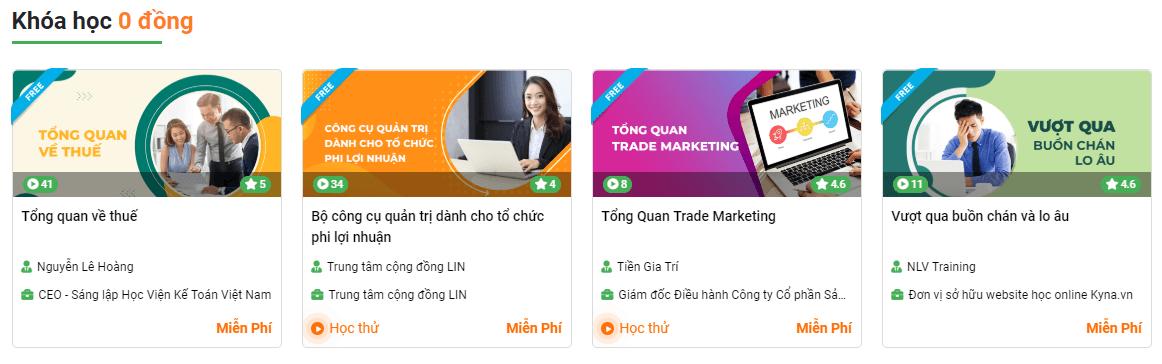 Đánh giá (review) chất lượng khóa học online tại Kyna.vn