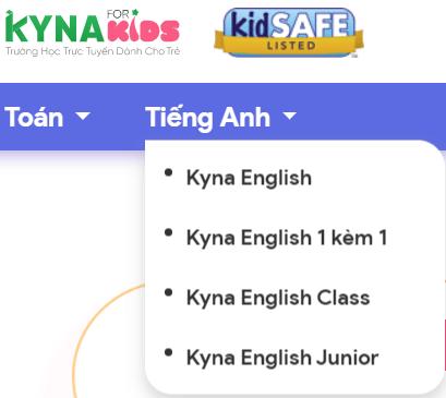 Cách đăng ký học trên Kynaforkids