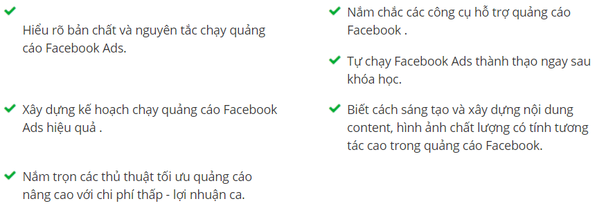 khóa học FACEBOOK MARKETING A - Z unica