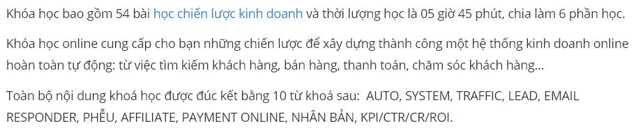 Khóa học CEO INTERNET - CHIẾN LƯỢC KINH DOANH ONLINE DÀNH CHO SẾP