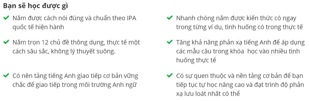 Khóa học 12 CHỦ ĐỀ GIAO TIẾP TIẾNG ANH QUAN TRỌNG