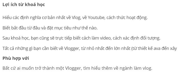 khóa học Làm thế nào để trở thành một Vlogger / Youtuber