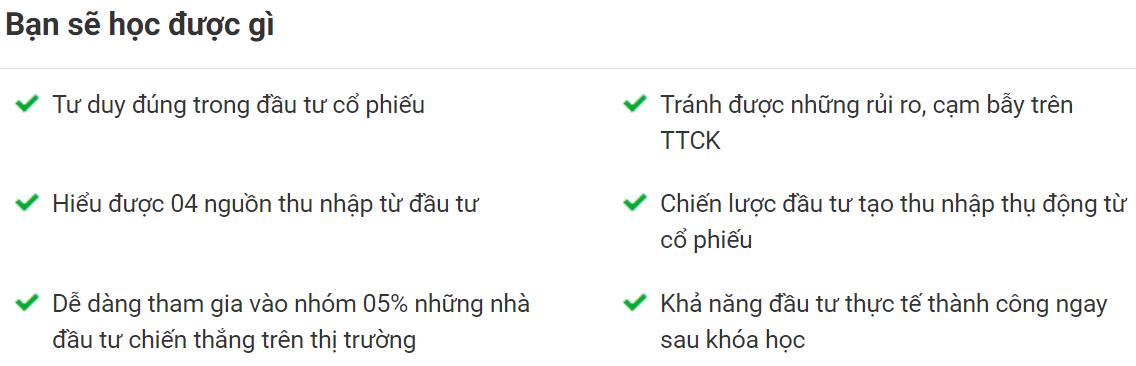 Serie khóa học Đầu tư, kinh doanh chứng khoán của Đặng Trọng Khang trên Unica