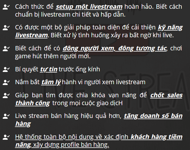 """Khóa học thực chiến tại nhà """"Sát thủ bán hàng Livestream"""" do thầy Phạm Thành Long giảng dạy sẽ giúp bạn có được những kiến thức, kỹ năng cần thiết và bí quyết hiệu quả nhất để bạn có doanh thu vượt bậc từ việc livestream của mình."""