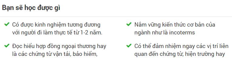 khóa học online NGHIỆP VỤ LOGISTICS CHO NGƯỜI MỚI BẮT ĐẦU của Nguyễn Thị Thanh Thảo